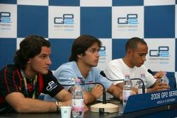 Conférence de presse : Giorgio Pantano, Nelson A. Piquet et Lewis Hamilton