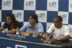 Press conference: Giorgio Pantano,Nelson A. Piquet and Lewis Hamilton