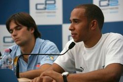 Press conference: Nelson A. Piquet and Lewis Hamilton