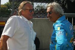 Mansour Ojeh with Flavio Briatore