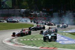 Start: Nelson A. Piquet et Giorgio Pantano