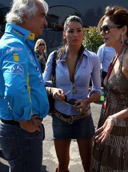 Flavio Briatore, son amie Elisabetta Gregoracci et Slavica Ecclestone