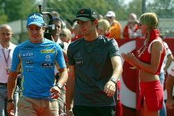 Fernando Alonso and Pedro de la Rosa