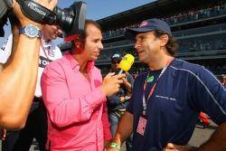 Alessandro Zanardi speaks to RTL TV on the grid