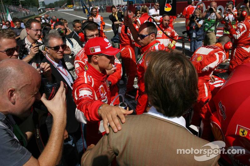 Michael Schumacher ve Luca di Montezemolo