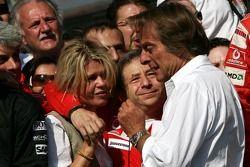 Momentos emotivos para Corina Schumacher, Jean Todt y Luca di Montezemolo