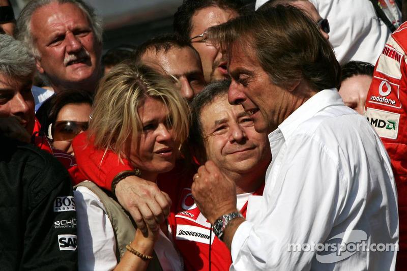 Emotional moments for Corina Schumacher, Jean Todt ve Luca di Montezemolo