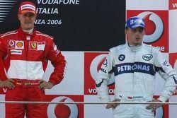Podio: ganador de la carrera Michael Schumacher, segundo lugar Kimi Raikkonen