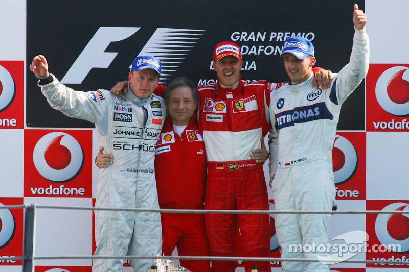 Michael Schumacher, Kimi Raikkonen, Robert Kubica, Jean Todt - Grand Prix Włoch 2006