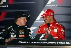 Conférence de presse FIA : le vainqueur Michael Schumacher et Kimi Raikkonen
