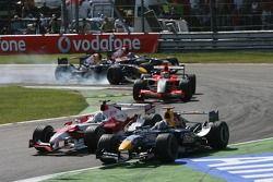 David Coulthard, Jarno Trulli et Christijan Albers