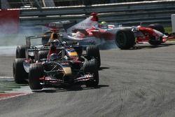 Scott Speed, David Coulthard and Ralf Schumacher