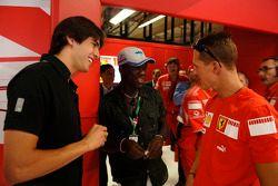 Kaka, Clarence Seedorf et Michael Schumacher