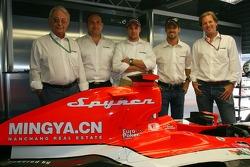 Spyker MF1 Racing press conference: Fred Mulder, Colin Kolles, Managing Director, Christijan Albers, Tiago Monteiro and Michiel Mol