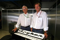 Spyker MF1 Racing press conference: Fred Mulder and Michiel Mol