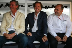 Spyker MF1 Racing press conference: Victor R. Muller, Chief Executive Officer of Spyker Cars N.V. and Spyker MF1 Racing, Michiel Mol, future Director of Formula One Racing of Spyker and Spyker MF1 Racing and Colin Kolles , Team Principal