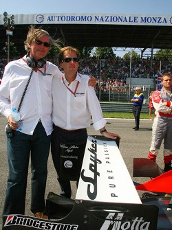Victor R. Muller, Chief Executive Officer of Spyker Cars N.V. and Spyker MF1 Racing and Michiel Mol, future Director of Formula One Racing, Spyker and Spyker MF1 Racing