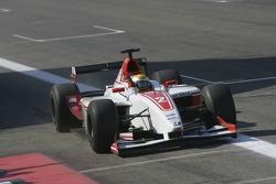 GP2 Series champion Lewis Hamilton