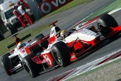 Giorgio Pantano et Lewis Hamilton