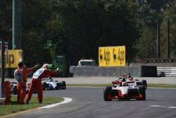 Race winner Giorgio Pantano celebrates