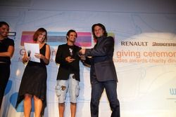 Giorgio Pantano collects the Driver Personality of the Year award