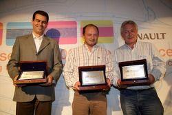 Second placed team Piquet Sports, Winners ART Grand Prix and third placed Piquet Sports