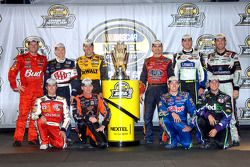 The Chase for the NASCAR Nextel Cup drivers for 2006: Dale Earnhardt Jr., Mark Martin, Matt Kenseth,