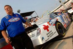 Jerry Pitts, crew chief for the Clorox Ford Fusion driven by Jon Wood