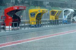 Grosse pluie au début de la séance qualificative