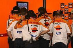 Membres de l'équipe Repsol Honda