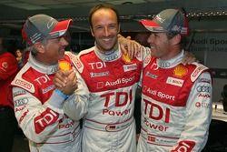 Le poleman Rinaldo Capello avec Tom Kristensen et Marco Werner