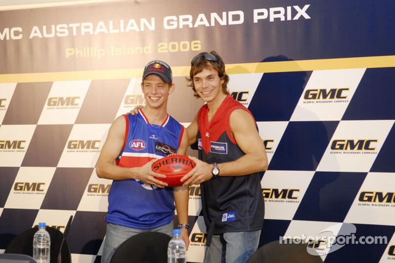 Casey Stoner y Chris Vermeulen en casa Australia