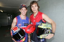 Casey Stoner y Chris Vermeulen a casa en Australia