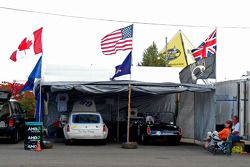Tin Cup racing paddock area