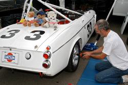 DickTillinger works on his 1967 Datsun 2000 rdstr