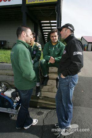 Darren Turner, Stéphane Sarrazin, Pedro Lamy et David Brabham