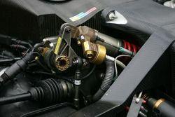 Détail de la suspension de l'Audi R8 Audi Sport North America