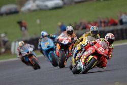 Marco Melandri, Honda; Colin Edwards, Yamaha; Dani Pedrosa, Repsol Honda Team