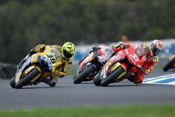 Valentino Rossi, Yamaha; Marco Melandri, Honda