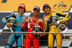 Podium: 1. Marco Melandri, 2. Chris Vermeulen, 3. Valentino Rossi
