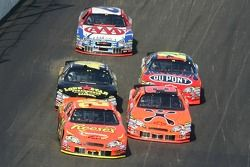 Kevin Harvick and Jeff Burton battle