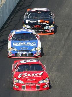 Dale Earnhardt Jr., Brian Vickers and Denny Hamlin