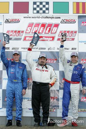 Podium: race winner Lou Gigliotti with Lawson Aschenbach and Michael Galati