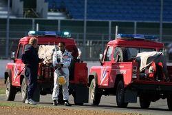 Lewis Hamilton after sa sortie de piste