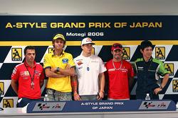 Loris Capirossi, Valentino Rossi, Nicky Hayden. Marco Melandri, Shinya Nakano