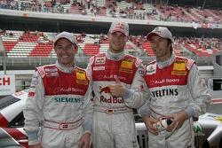 Le poleman Martin Tomczyk avec Tom Kristensen et Heinz-Harald Frentzen