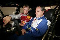 Mattias Ekstrom et Carlos Sainz dans l'Audi Race Taxi
