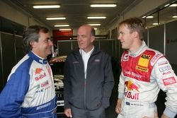 Carlos Sainz, Dr. Wolfgang Ullrich et Mattias Ekstrom