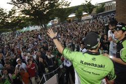 Randy de Puniet and Shinya Nakano meet fans