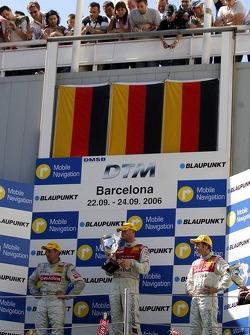Podium: le vainqueur Martin Tomczyk avec Bernd Schneider et Heinz-Harald Frentzen